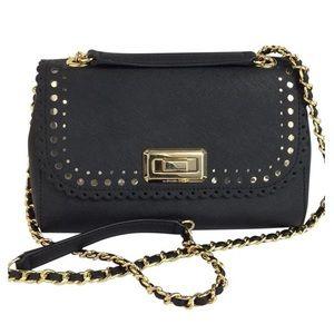 New Michael Kors flap Black crossbody Bag
